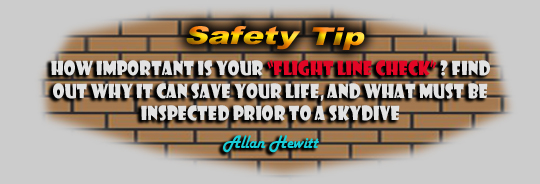 Safety Tip - How important is your flight line check?